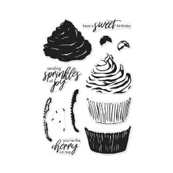 Color Layering Cupcake, Hero Arts Clear Stamps -
