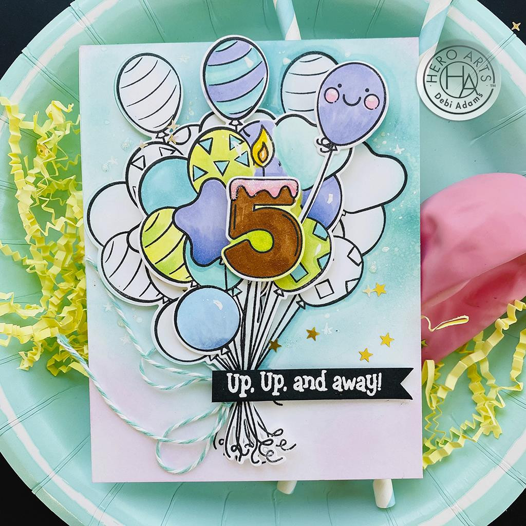 Bunch of Balloons, Hero Arts Clear Stamps -