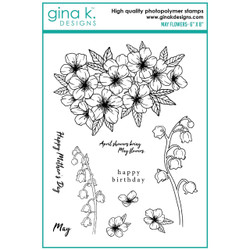 May Flowers, Gina K Designs Clear Stamps -