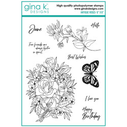 Antique Roses, Gina K Designs Clear Stamps -