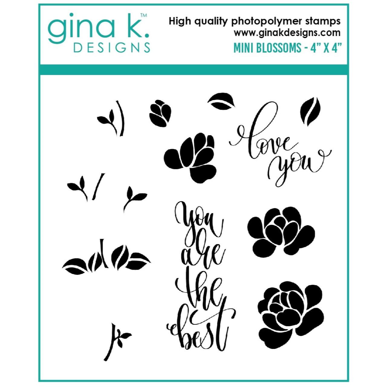 Mini Blossoms, Gina K Designs Clear Stamps -