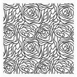 Abstract Roses Background, My Favorite Things Cling Stamps -