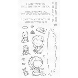 Spill the Tea by Rachelle Anne Miller, My Favorite Things Clear Stamps -