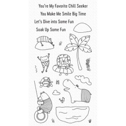 Swimming Hole Friends, My Favorite Things Clear Stamps -