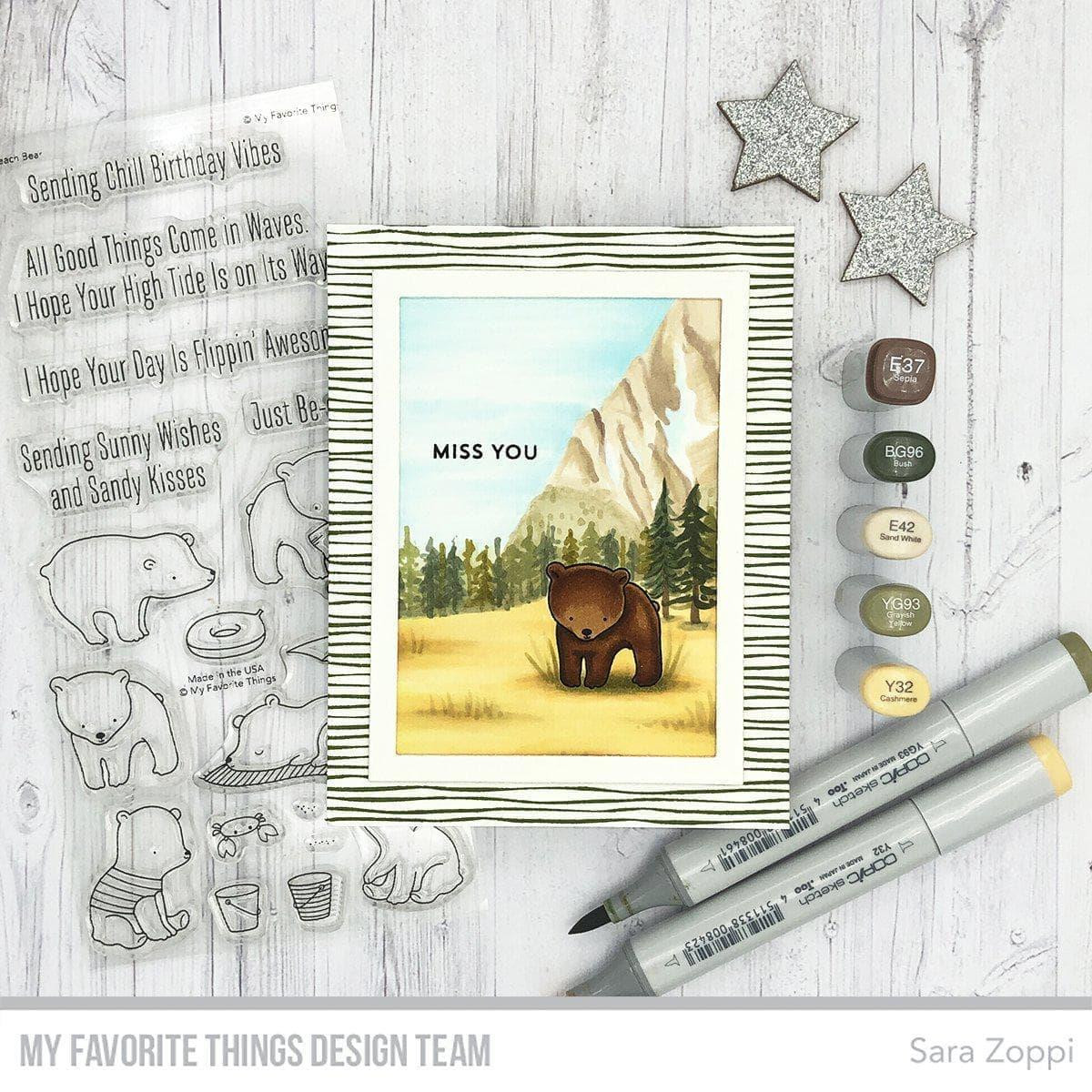 Thick and Thin Background, My Favorite Things Cling Stamps -