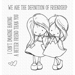 Tiddly Inks - Definition of Friendship, My Favorite Things Clear Stamps -