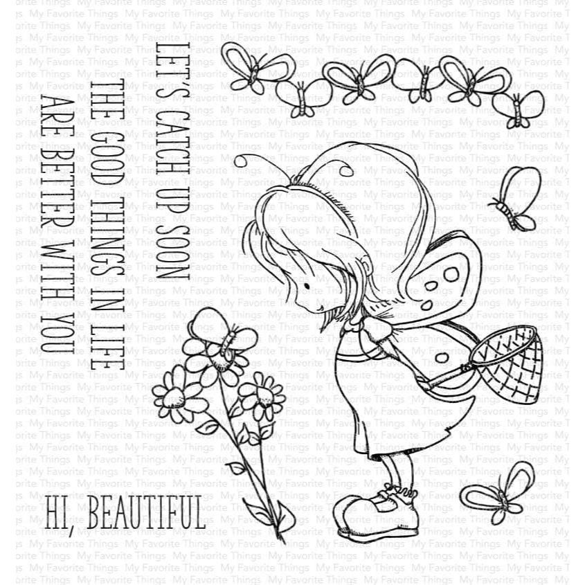 Tiddly Inks - Flutterby Friends, My Favorite Things Clear Stamps -