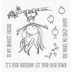 Tiddly Inks - Let Your Hair Down, My Favorite Things Clear Stamps -
