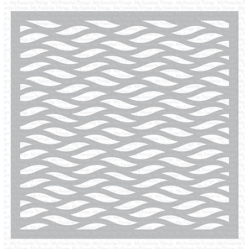 Wavy Lines, My Favorite Things Stencils -