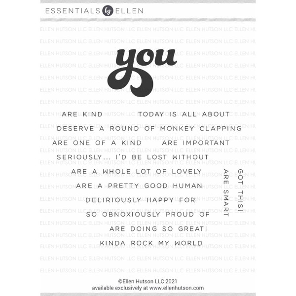 All About You by Julie Ebersole, Essentials by Ellen Clear Stamps -