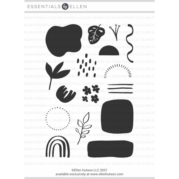 Organic Elements by Julie Ebersole, Essentials by Ellen Clear Stamps -