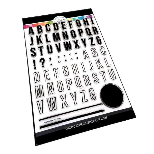 Simple Alphabet, Catherine Pooler Clear Stamps -