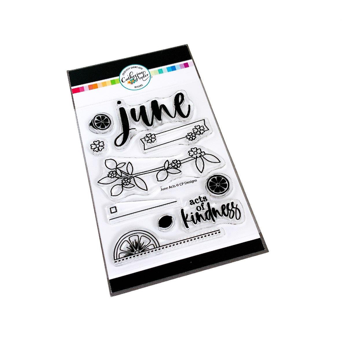 June Acts, Catherine Pooler Clear Stamps -