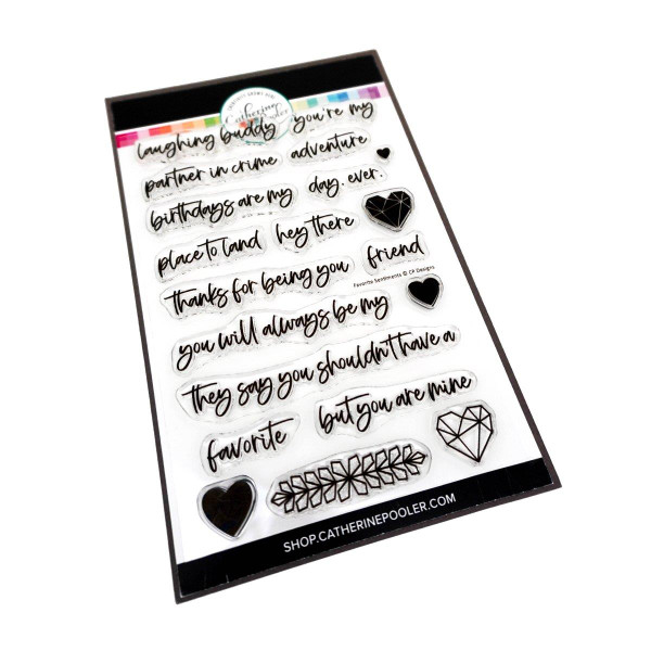 Favorite Day Ever Sentiments, Catherine Pooler Clear Stamps -