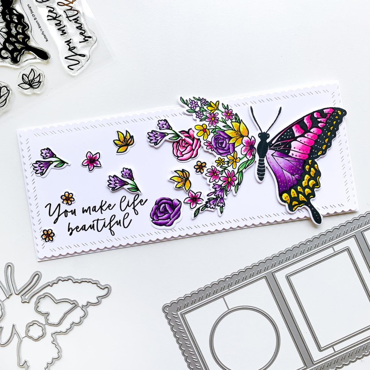 Butterfly in Bloom, Catherine Pooler Clear Stamps -