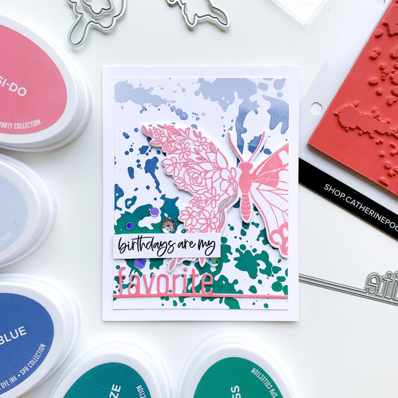 Ink Splat Background, Catherine Pooler Cling Stamps -