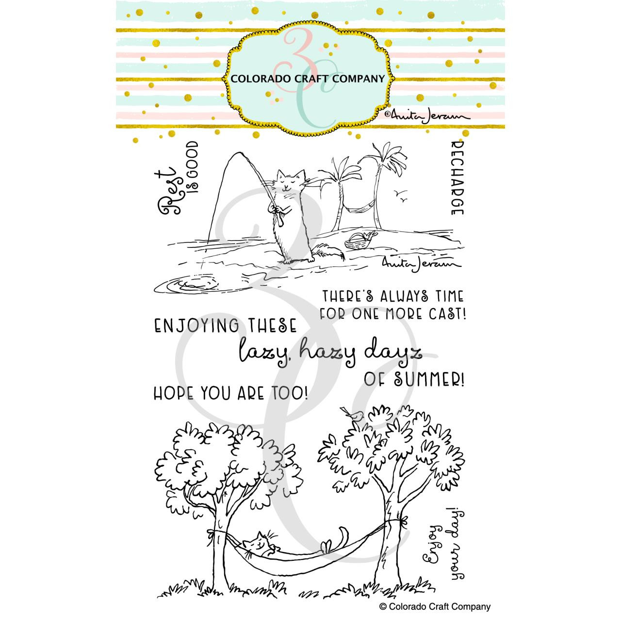 Recharge by Anita Jeram, Colorado Craft Company Clear Stamps -