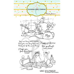 Play Time by Anita Jeram, Colorado Craft Company Clear Stamps -
