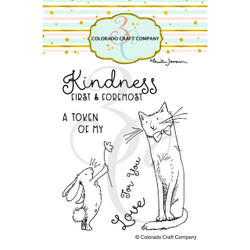 Kindness First by Anita Jeram, Colorado Craft Company Clear Stamps -