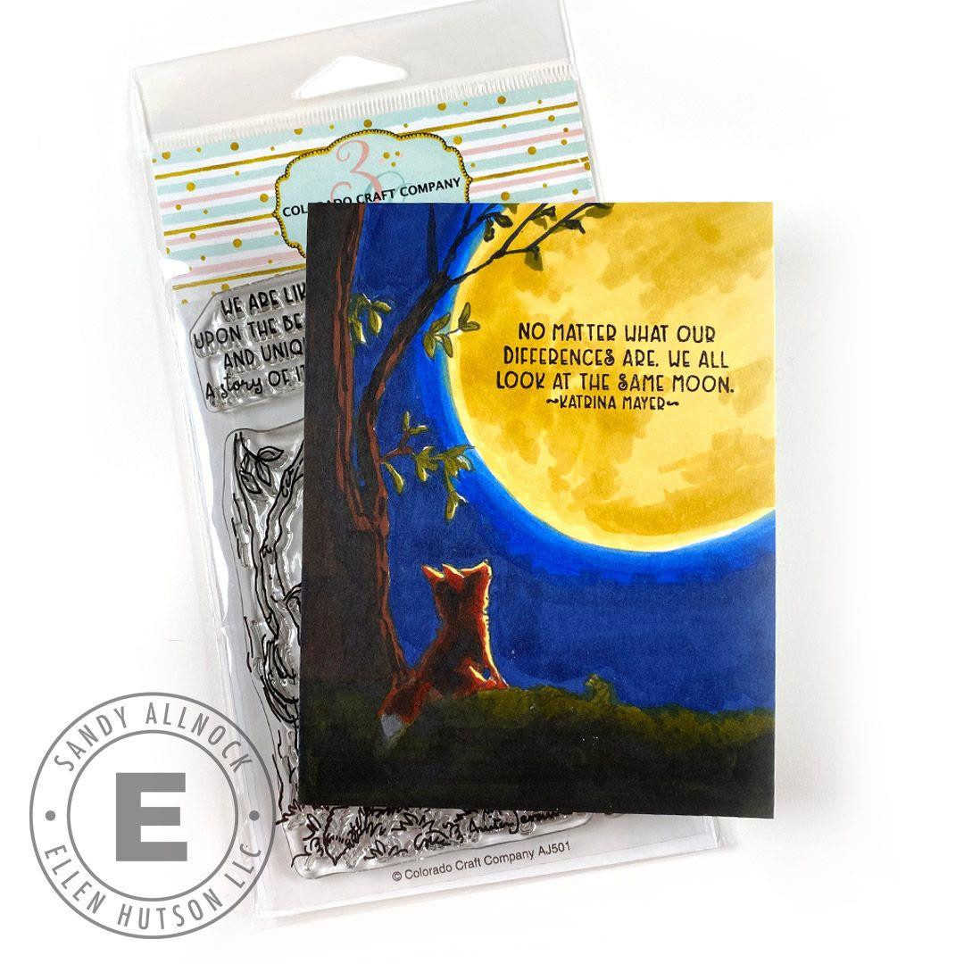 A Fox's Life by Anita Jeram, Colorado Craft Company Clear Stamps -