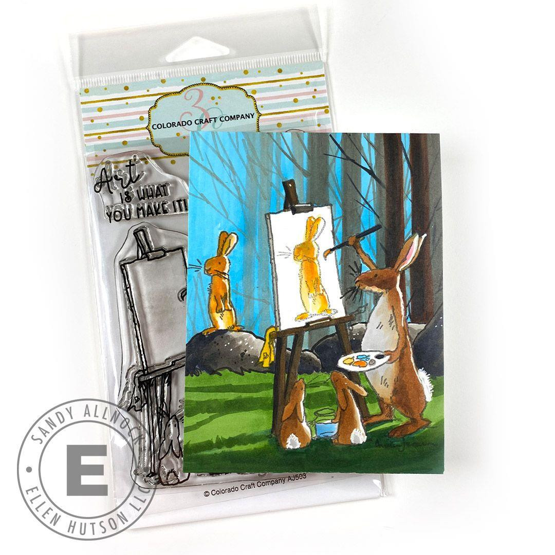 Art Is by Anita Jeram, Colorado Craft Company Clear Stamps -