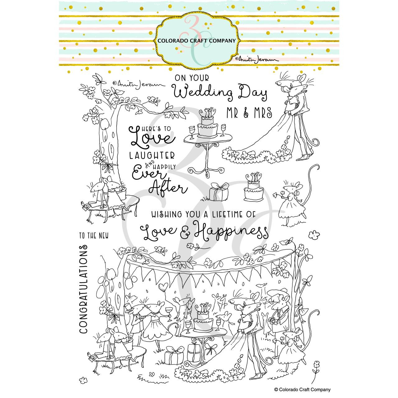 Happily Ever After by Anita Jeram, Colorado Craft Company Clear Stamps -