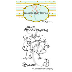 Anniversary Mini by Anita Jeram, Colorado Craft Company Clear Stamps -
