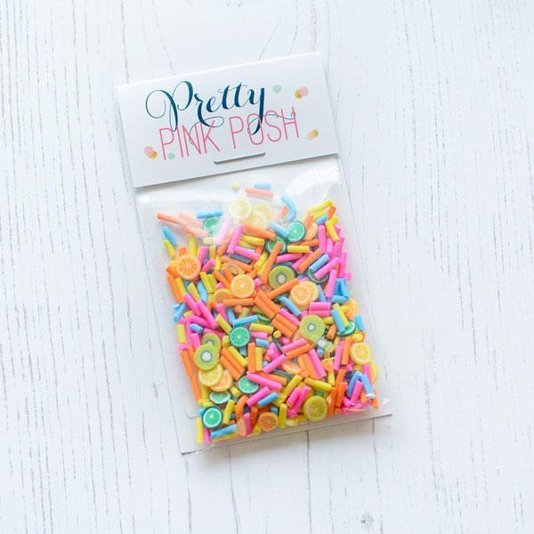 Fruit Smoothie, Pretty Pink Posh Clay Sprinkles -