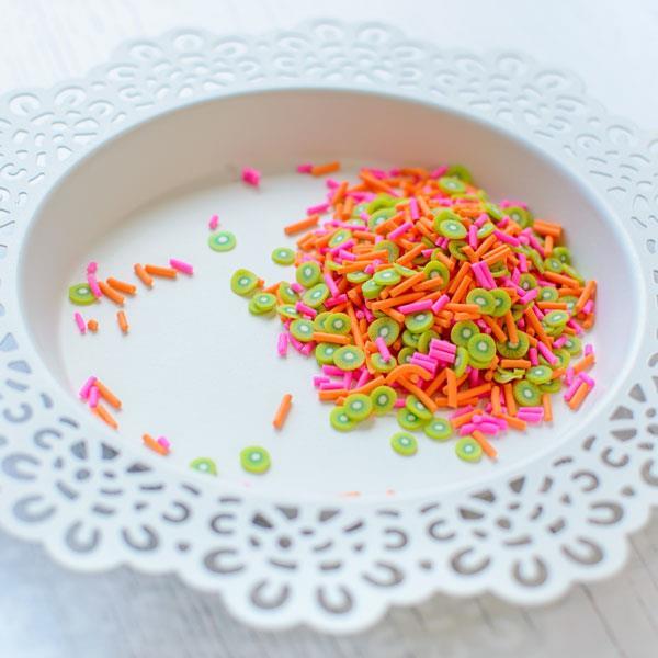 Kiwi Melon, Pretty Pink Posh Clay Sprinkles -