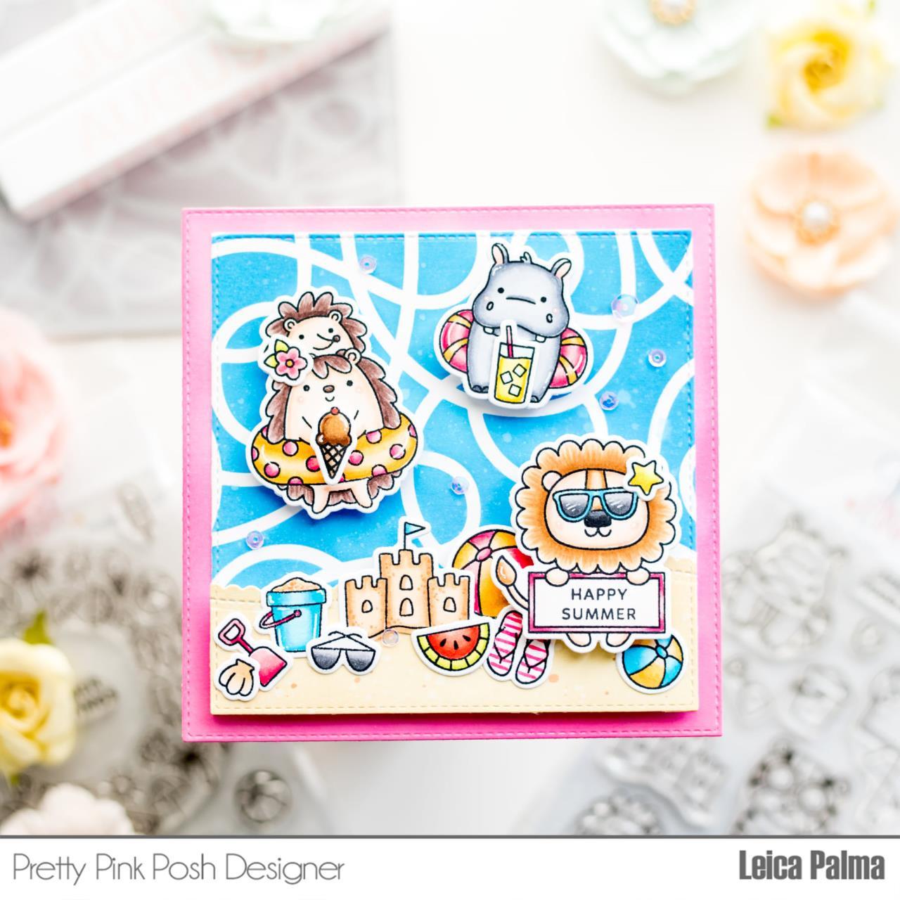 Squiggles, Pretty Pink Posh Stencils -