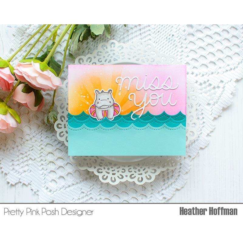 Stitched Waves, Pretty Pink Posh Dies -