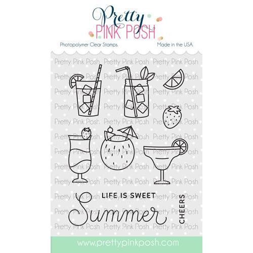 Summer Drinks, Pretty Pink Posh Clear Stamps -