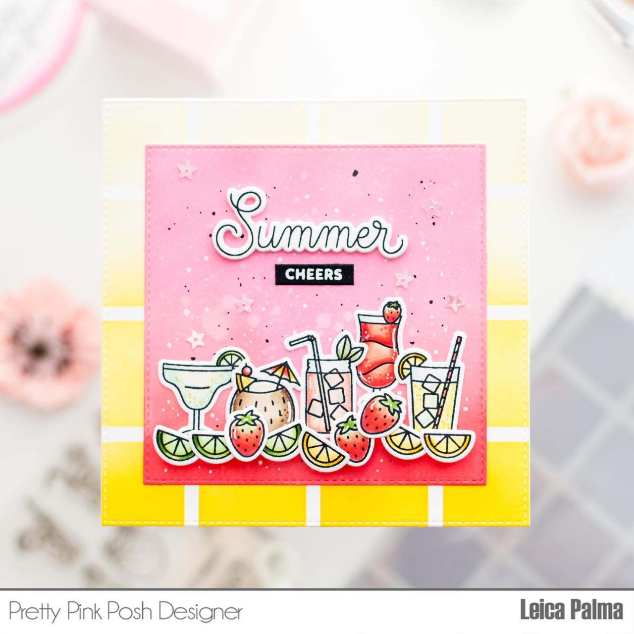 Summer Drinks, Pretty Pink Posh Dies -