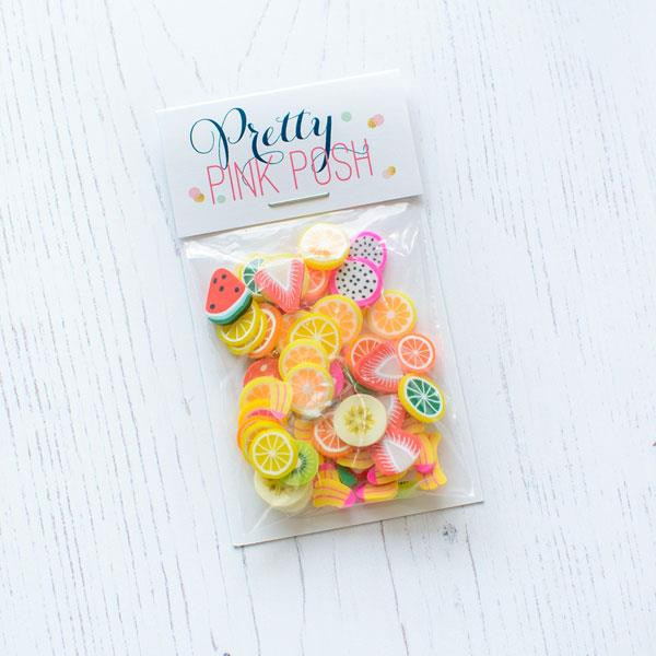 Fresh Fruit, Pretty Pink Posh Clay Sprinkles -