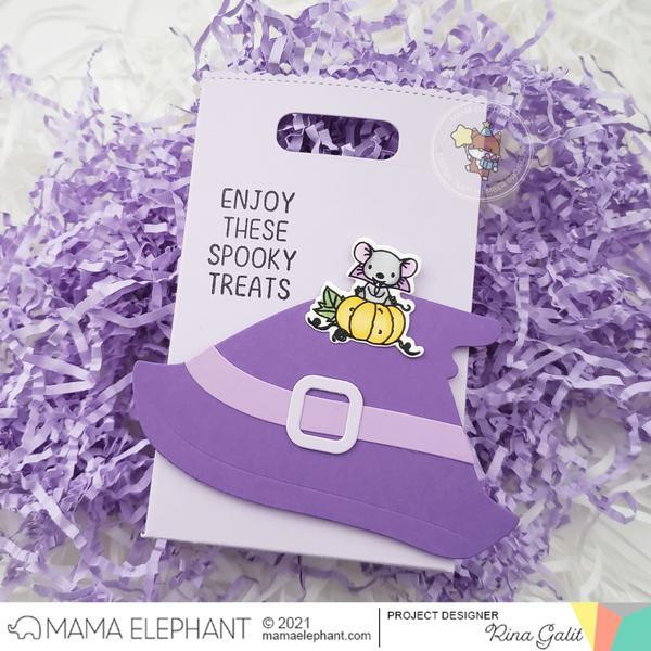Favor Bag Accessory - Witch, Mama Elephant Creative Cuts -