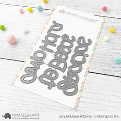 Big Spanish Words, Mama Elephant Creative Cuts -