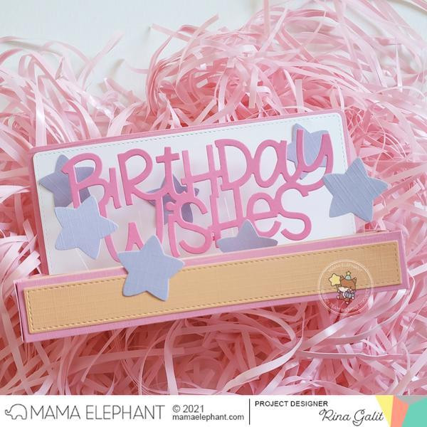 Big Birthday Wishes, Mama Elephant Creative Cuts -
