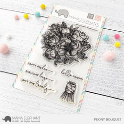 Peony Bouquet, Mama Elephant Clear Stamps -