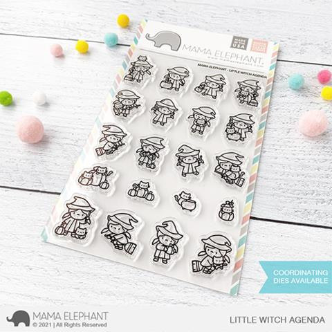 Little Witch Agenda, Mama Elephant Clear Stamps -