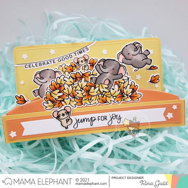 Happy Word Banners, Mama Elephant Clear Stamps -