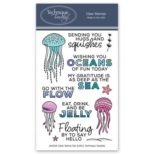 Jellyfish, Technique Tuesday Clear Stamps -