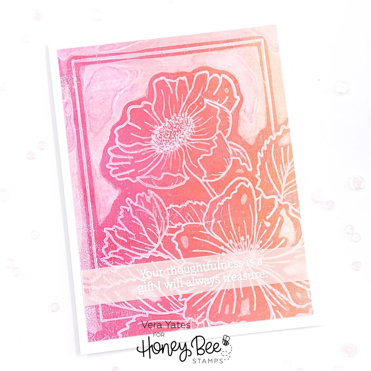 Framed: Anemones, Honey Bee Clear Stamps -