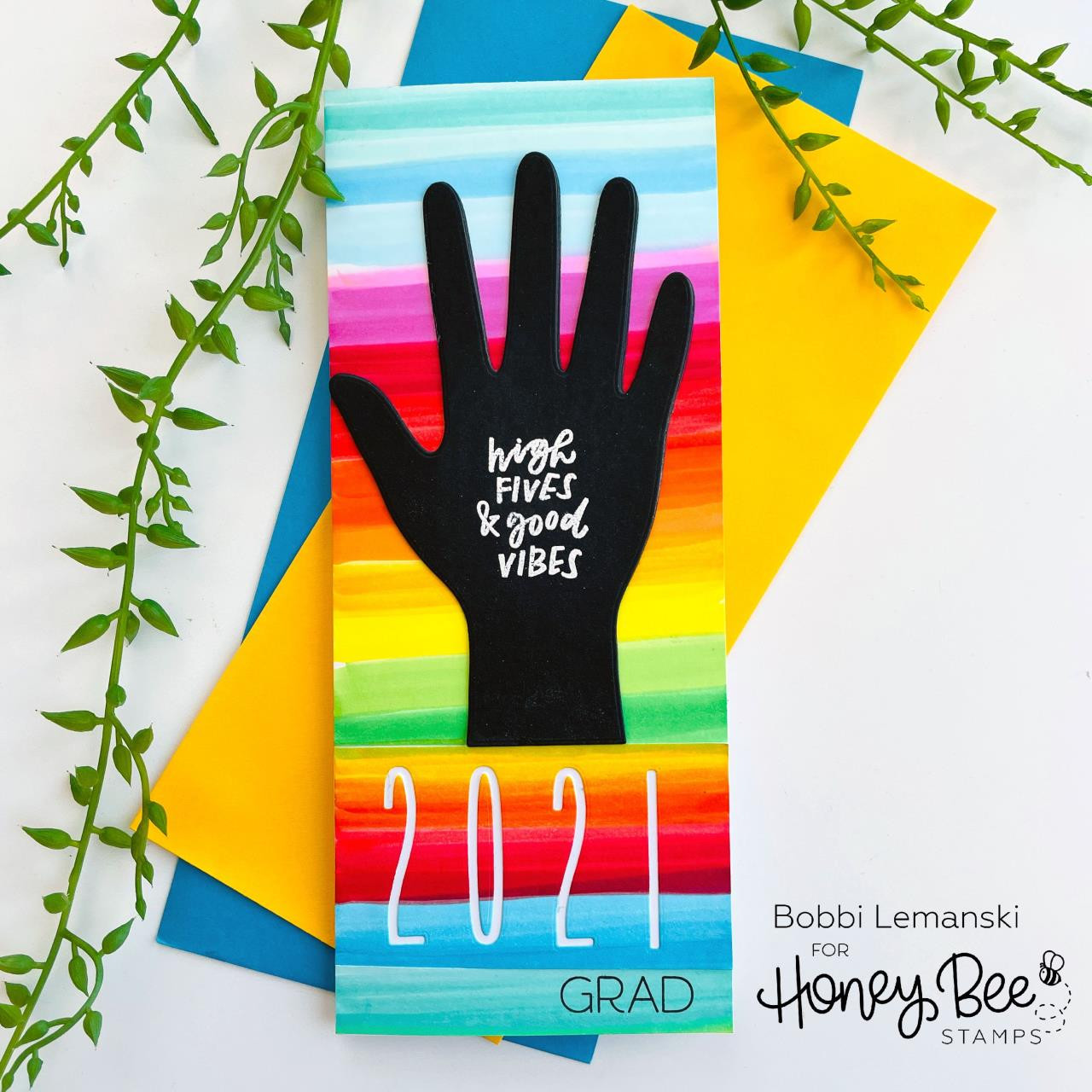 High Five, Honey Bee Clear Stamps -