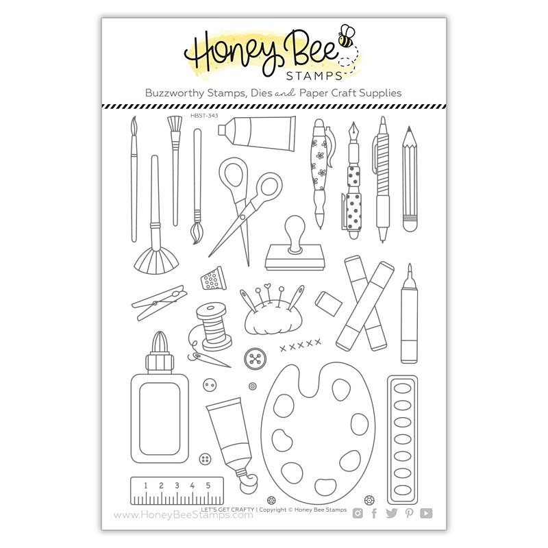 Let's Get Crafty, Honey Bee Clear Stamps -