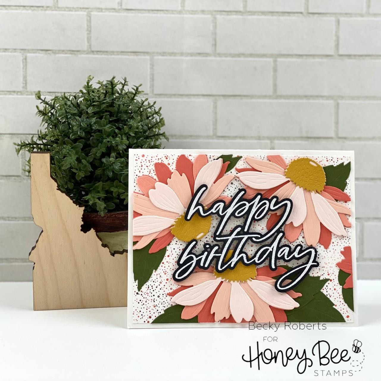 Lovely Layers: Coneflower, Honey Cuts Dies -