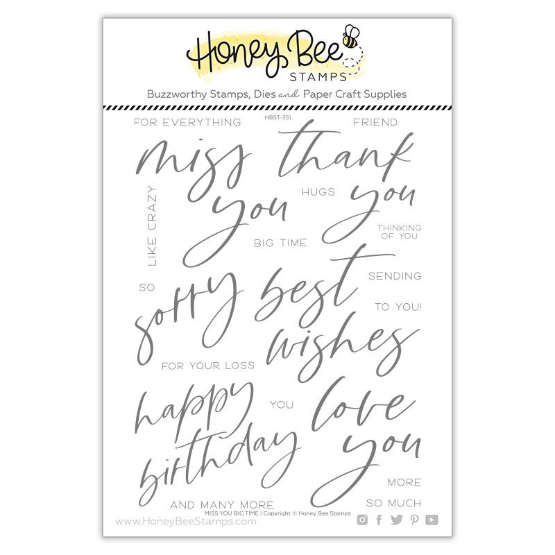 Miss You Big Time, Honey Bee Clear Stamps -