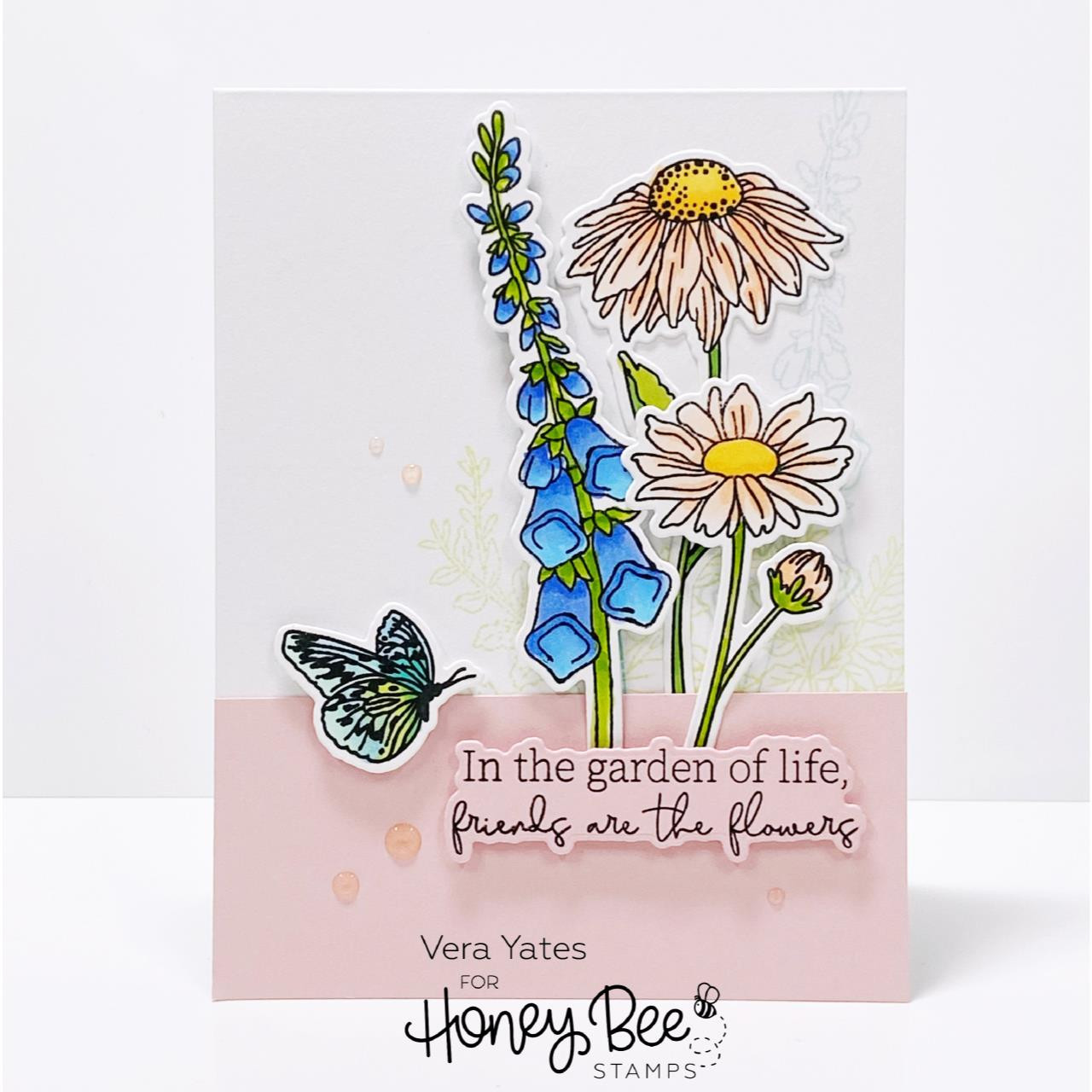My Favorite Flower, Honey Bee Clear Stamps -
