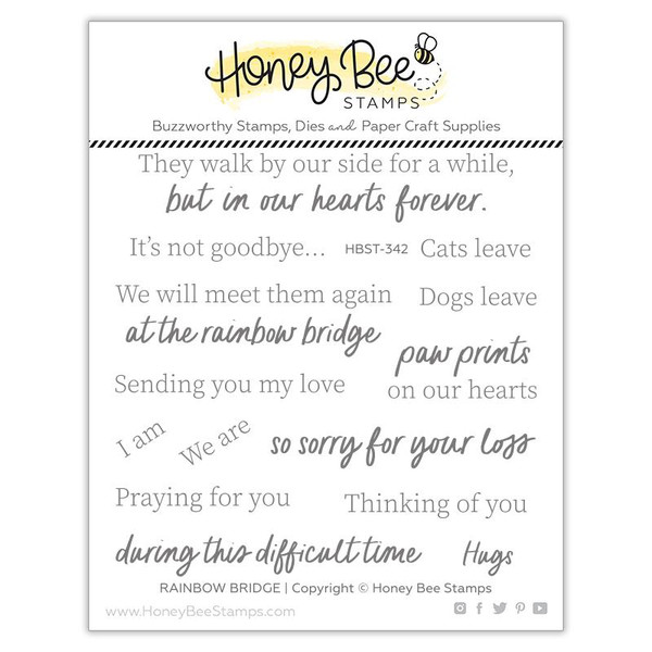 Rainbow Bridge, Honey Bee Clear Stamps -