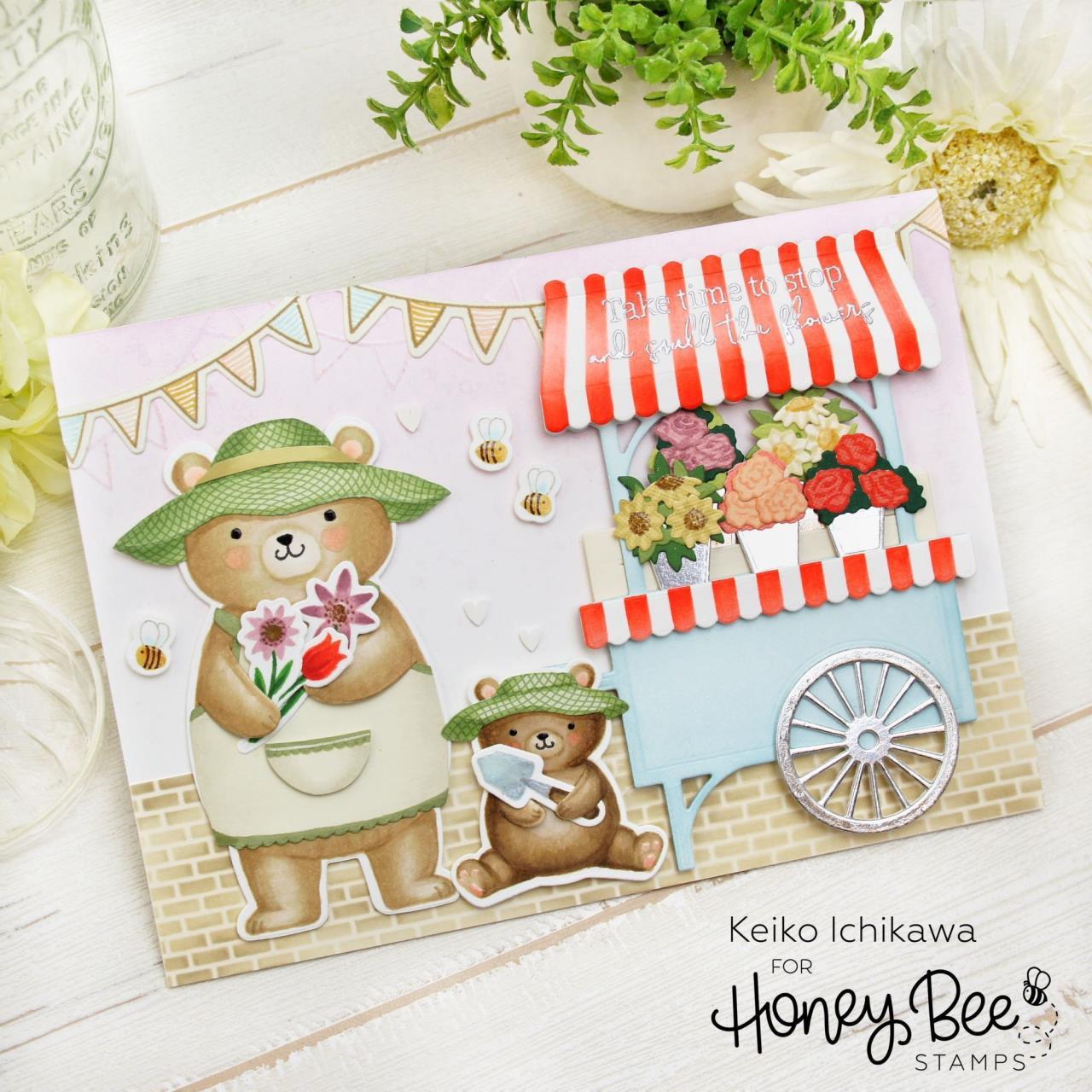 Sandie and Sis, Honey Bee Clear Stamps -