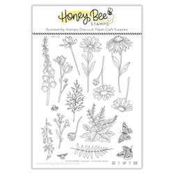 WIldflowers, Honey Bee Clear Stamps -